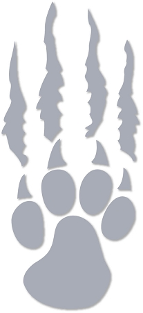 Silverwolves Paw And Tear Window Decal
