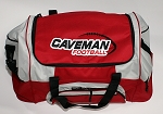 Caveman Duffel Bag with Embroidered Logo - Red - (Cavemen)