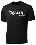Alta Hawks Lacrosse - Cooling Performance Wicking Black Shooter T-Shirt