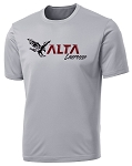 Alta Hawks Lacrosse - Cooling Performance Wicking Silver Shooter T-Shirt