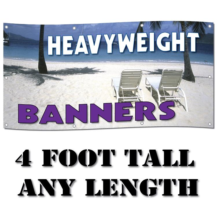 Standard Size HeavyWeight  Oz Digitally Printed Custom - Vinyl banners sizes