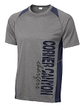Corner Canyon Chargers Football  - Performance Color Block Wicking T-Shirt