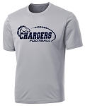 Corner Canyon Chargers Football  - Cooling Performance Laces Logo Wicking T-Shirt