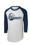 Corner Canyon Chargers Football  - Retro Style Baseball T-Shirt