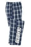 Corner Canyon Chargers Football  - Flannel Plaid Pants - Unisex and Juniors Sizes - (Sleep)