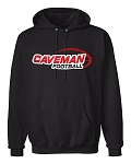 Caveman Football - Black Hooded Sweatshirt - Hoody - Cavemen