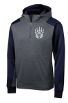 Copper Hills Baseball Performance Navy/Gray 1/4 Zip Hooded