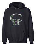 Copper Hills Grizzlies Plaid Logo Hooded