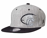 Corner Canyon Chargers Football - Navy/Gray Snap-Back Cap -  (Hat)  (Grey)