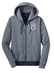 Copper Hills Baseball - Ladies Mini-Stripe Zip-Up Hooded Sweatshirt with team Logo