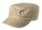 Herriman Mustangs Girls Lacrosse Ladies Distressed Khaki Military Cap (Hat)