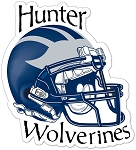 Wolverines Football Helmet – Window Decal