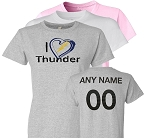 Ladies I Heart Thunder Personalized T-Shirt