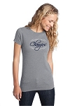 Corner Canyon Chargers Football  - Ladies Logo T-Shirt Heather Gray