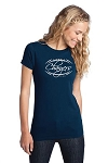Corner Canyon Chargers Football  - Ladies Logo T-Shirt Navy