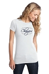 Corner Canyon Chargers Football  - Ladies Logo T-Shirt White