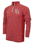 Providence Hall Patriots – Adult 1/4 -Zip Running Jacket – PH Reflective Logo - Red