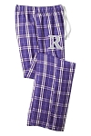 Riverton SilverWolves Girls Lacrosse  - Flannel Plaid Pants - Unisex and Juniors Sizes (Sleep)