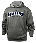 Corner Canyon Chargers Basketball - Performance Dark Heather - Hooded Sweatshirt (Hoodie Hoody)
