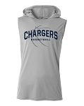 Corner Canyon Chargers Basketball - Cooling Performance  Wicking Hooded T-Shirt