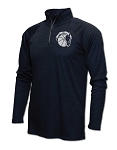 Corner Canyon Chargers Basketball - Heather Navy - Adult Warm-Up Top 1/4-Zip Running Jacket – Reflective Team logo