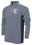 Corner Canyon Chargers Basketball - Space Dyed Navy - Adult Warm-Up Top 1/4-Zip Running Jacket – Reflective Team logo