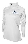 Corner Canyon Chargers Basketball -White - Ladies Warm-Up Top 1/4-Zip Running Jacket