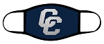 Chargers - Metal CC - Navy - Triple Layer Fabric Facemask - Corner Canyon High School