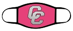 Chargers - Metal CC - Pink - Triple Layer Fabric Facemask - Corner Canyon High School