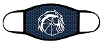 Chargers - Charger Basketball Logo - Triple Layer Fabric Facemask - Corner Canyon High School