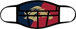 Mustangs - Face Mask - Full Color Logo Under Football Helmet - Triple Layer Fabric - Herriman