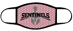 Sentinels - Pink Text and Helmet Logo Face Mask - Triple Layer Fabric - Mountain Ridge (COPY)