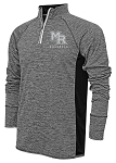 Mt Ridge Sentinels Baseball -  Black- Adult Warm-Up Top 1/4-Zip Running Jacket – Reflective Team logo