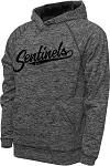 Mt Ridge Sentinels Baseball - Performance Space Dyed Black - Hooded Sweatshirt (Hoodie Hoody)