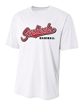 Mt Ridge Sentinels Baseball - Cooling Performance White - Wicking T-Shirt
