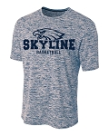 Skyline Eagles Basketball - Space Dyed Navy - Cooling Performance  Wicking T-Shirt