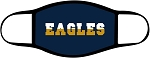 Eagles - 2 Toned Text - Face Mask - Triple Layer Fabric - Skyline Eagles