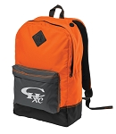 CHXC Copper Hills Grizzlies Cross Country - Reflective Logo -Neon Orange Team Backpack - Bag