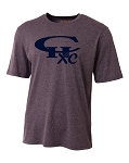 CHXC - Adult 2018 - Copper Hills Grizzlies Cross Country - Cooling Performance Heather Navy - Wicking T-Shirt