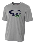 CHXC - ADULT 2017 - Copper Hills Grizzlies Cross Country - Cooling Performance Heather Gray - Wicking T-Shirt