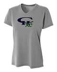 CHXC - LADIES 2017 - Copper Hills Grizzlies Cross Country - Cooling Performance Heather Gray - Wicking T-Shirt