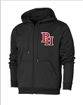 Providence Hall Patriots - Performance Full-Zip - Black - Hooded Sweatshirt (Hoodie Hoody)