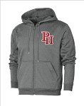 Providence Hall Patriots - Performance Full-Zip Heather Gray - Hooded Sweatshirt (Hoodie Hoody)