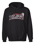 Utah Blitz Football Black - Official Logo - Embroidered Hooded, (Hoody), Sweatshirt