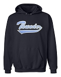 Westlake Thunder Classic Script Logo -Embroidered Hooded Navy Sweatshirt (Hoody)