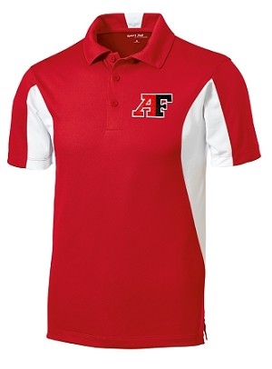 Cavemen Mens Sideline Polo - Red/White