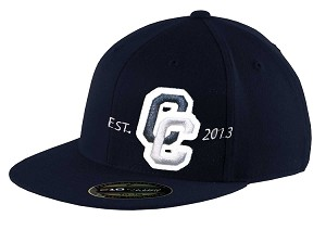 Corner Canyon Chargers Football   – Flat Bill Game Day Navy Cap - Flex Fit (Hat)