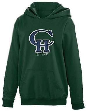 "Copper Hills Grizzlies Performance Hooded Green  Sweatshirt ""Hoodie Hoody"""