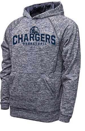 Corner Canyon Chargers Basketball - Performance Space Dyed Navy - Hooded Sweatshirt (Hoodie Hoody)