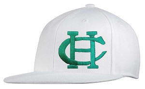 Copper Hills Baseball – Flat Bill Cap - Old School Snap-Back Hat - White